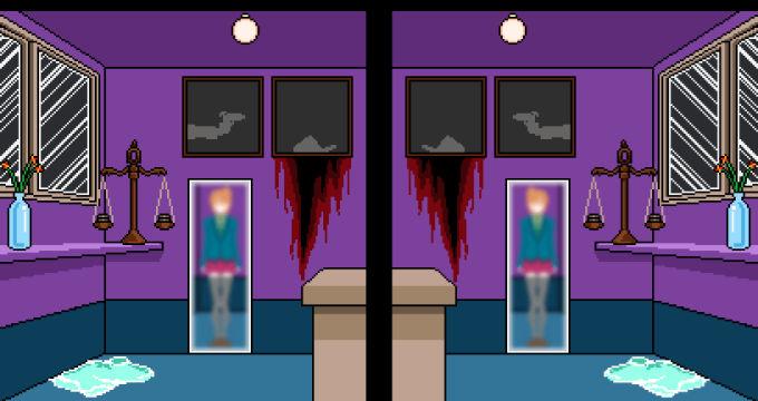 左右対称の【鏡】部屋