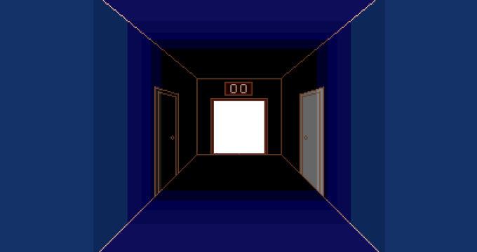開かれた中央のドア