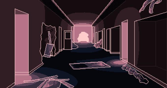 荒れた廊下