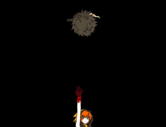 レコの生首を投げるノエル