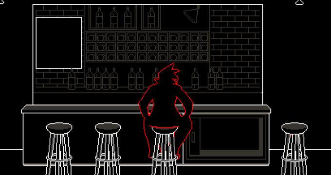 真っ暗な酒場