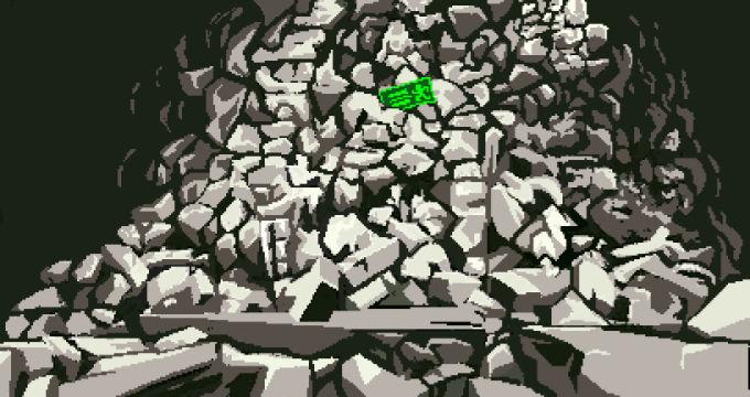 一面の岩壁