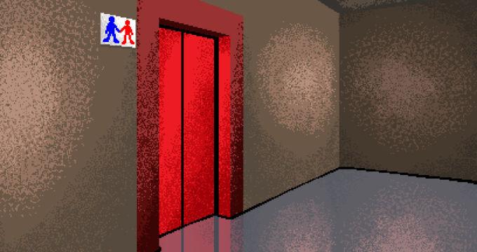 赤いドアの部屋