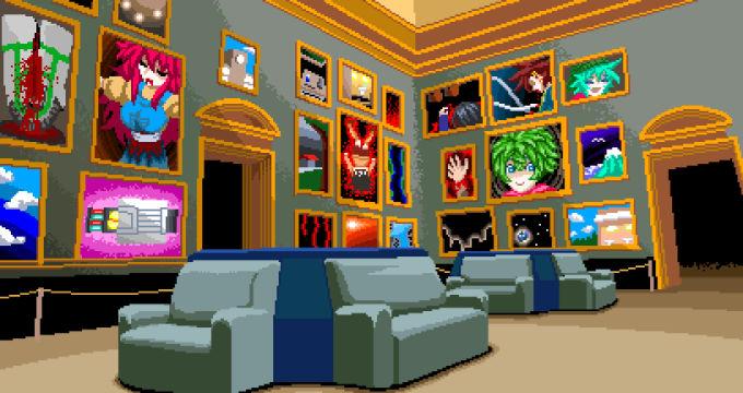 絵が飾られた部屋