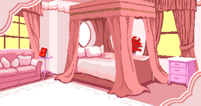 ふわふわした部屋