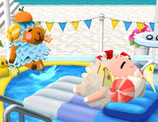 ビーチでのんびり