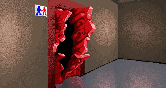 破壊されたドア