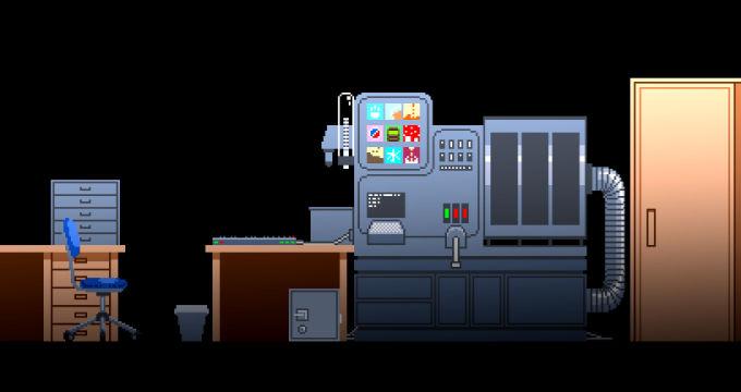 大きな機械のある部屋